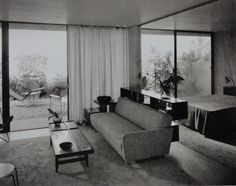 The Colby apartmaents designed by Raphael Soriano in 1951 photographed by Julius Shulman.