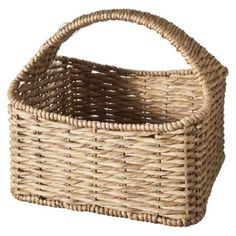 Entry - The perfect size for 2 under the table.  Smith & Hawken® Strap Handle Basket 15