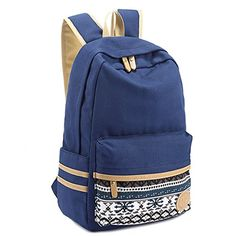 Backpacks School Backpack Laptop Cotton Canvas Travel Backpack Nany Blue      Want to know more 76b4797ee2b28