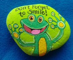 Easy Paint Rock For Try at Home (Stone Art & Rock Painting Painted Rock Animals, Painted Rocks Kids, Painted Stones, Pebble Painting, Pebble Art, Stone Painting, Stone Crafts, Rock Crafts, Frog Rock