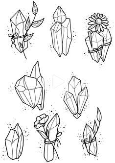how to draw minions Flash Art, Tattoo Drawings, Body Art Tattoos, Art Drawings, Simple Drawings, Doodle Art, Crystal Drawing, Crystal Tattoo, Tattoo Zeichnungen