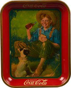 Coca Cola Tin Serving Tray c1931 : Lot 949F