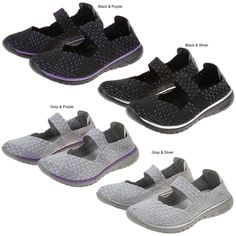 Pet Lovers Ultralite™ Woven Mary Jane Shoes at The Animal Rescue Site {Gray & Silver Size 6 please...}