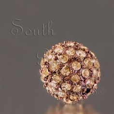 10mm pave crystal beads, Chocolate with Light Colorado Topaz crystals  $6.89
