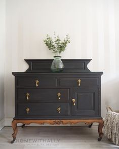 French sideboard painted in ash by fusion mineral paint Repurposed Furniture ash French fusion mineral Paint painted Sideboard Black Furniture, Paint Furniture, Furniture Makeover, Vintage Furniture, Living Room Furniture, Home Furniture, Furniture Design, Rustic Furniture, Modern Furniture