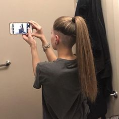 Undercut may refer to: Short Hair Undercut, Undercut Hairstyles, Girl Hairstyles, Hair Tattoos, Shaved Sides, Side Cuts, Dream Hair, Top Knot, Hair And Nails