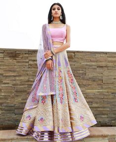 Pastel #floral #lehenga for a sangeet or pre #wedding event