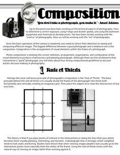 Cartoon Drawing Techniques Digication e-Portfolio :: Erin McGinnis :: Compositional Techniques Photography Rules, School Photography, Photography Lessons, Photography Projects, Image Photography, Digital Photography, Photography Composition Rules, Photography Sketchbook, Scenic Photography