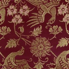 A reproduction of an existing textile from 14th century Italy stored at the Metropolitan Museum of Art. The brocade is densely woven from fine silk, rayon and metallic threads, creating a feel of true luxury. The fabric is stiff due to the high amount of metallic threads, this suitable for doublets, purses, shoes and outerwear in general.