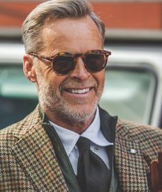 """""""Re-stock on one of our all time favorites - the lapel amber tortoise with tobacco lenses from…"""" Look Formal, Cute Teen Outfits, Elegant Man, Mature Men, Suit And Tie, Well Dressed Men, Gentleman Style, Mens Clothing Styles, Stylish Men"""