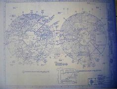 Disneyland castle blueprint bella pinterest disneyland walt disney world epcot spaceship earth by blueprintplace on etsy 1499 malvernweather Images