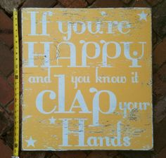 If You're Happy and You KNow it Clap YOur Hands by GoJumpInTheLake, $45.00