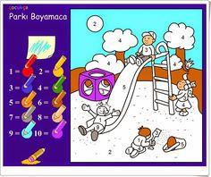 """""""Colorear según los números"""" es un pequeño juego para colorear según la clave numérica relacionada con los colores."""
