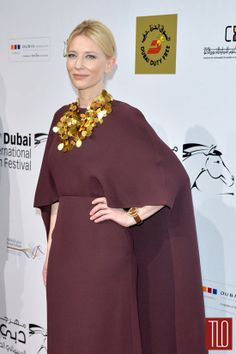 Cate Blanchett in Valentino at the Dubai International Film Festival