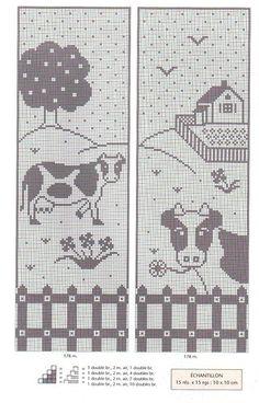 "Photo from album ""Занавески"" on Yandex. Filet Crochet, Crochet Cow, Crochet Curtains, Crochet Patterns, Kids Rugs, Album, Simple, Funny, Yandex Disk"