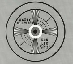 The 1930s broadcast test pattern for Don Lee Television in Hollywood, with the station call letters W6XAO. It later became KTSL-TV, and eventually KNXT when it was bought by the CBS Television Network.