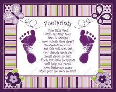 footprint poem, have to do this for the kiddos!