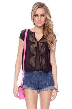 Vintage Laced Blouse in Black $63 at www.tobi.com