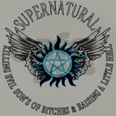 Supernatural protection Symbal Wings 03 Balloon by Ratherkool - CafePress Supernatural Facts, Supernatural Symbols, Supernatural Bloopers, Supernatural Tattoo, Supernatural Imagines, Supernatural Wallpaper, Supernatural Pentagram, Wicked Tattoos, Body Art Tattoos