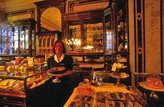 Demel Café in Vienna. They have a cake museum at the back of the cafe!