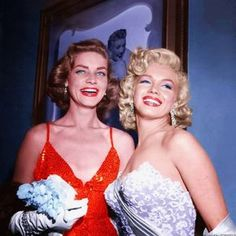Lauren Bacall and Marilyn Monroe