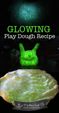 Glowing playdough recipe | Tinkerlab.com