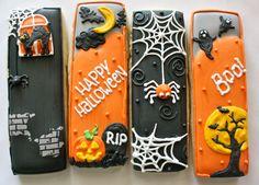 Bookmark style Halloween Cookies