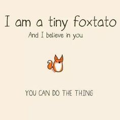 Foxtato believes in us :)