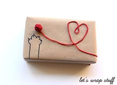 Ball of Yarn Gift Wrap - brown paper packages tied up with string