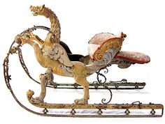 Chimere sleigh by Jean Berain. Pobably made for the Dauphin by Jean Berain.