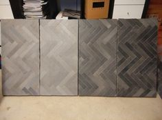 herringbone cotto grey and black by fornace brioni
