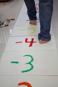 An interactive number line to teach enforce adding and subtracting integers.
