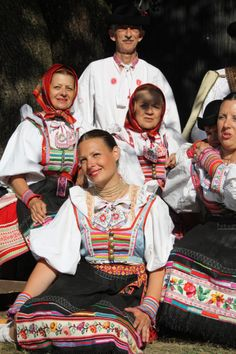 Važec village, Liptov region, Central Slovakia. Folk Costume, Costumes, European People, Folk Clothing, Folk Embroidery, Eastern Europe, Beautiful Patterns, Folklore, Traditional Outfits