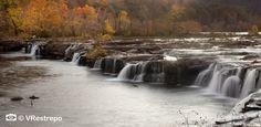 Fall Foliage Photography, Nature photography, autumn Victoria Restrepo photography,  Sandstone Falls, West Virginia