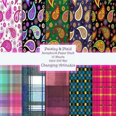 Digital Download PAISLEY AND PLAID Scrapbook by ChangingArtitudes