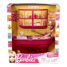 Barbie Doll And Bathtub Bathroom House Furniture Gift set Accessories Girl NEW Bathtub Accessories, Barbie Accessories, Barbie Bathroom, Barbie Furniture, Barbie Collector, Pink Zebra, Barbie House, Cute Toys, Barbie World