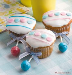 #BabyShower cupcakes - The cutest & sweetest baby rattles ever.