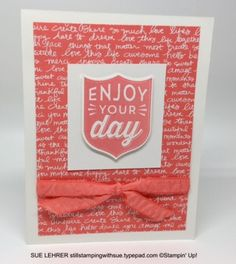 Handmade card using the Badges & Banners Stamp Set and Best Badge Punch from Stampin' Up!