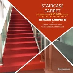 Carpet Runners Over Carpeted Stairs Artificial Grass Carpet, Office Carpet, Commercial Carpet Tiles, Ad Home, Quality Carpets, Modern Blinds, Carpet Sale, Carpet Stairs, Living Room Carpet