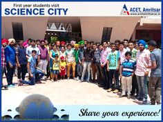 A trip to Pushpa Gujral Science City, Kapurthala was organised by Applied Science Department for first year students on 26th June, 2015 so as to upgrade their knowledge about scientific innovations.