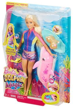 Check out the Barbie Dolphin Magic Snorkel Fun Friends at the official Barbie website. Explore the world of Barbie today! Barbie Kids, Barbie Doll Set, Barbie Doll House, Barbie Dream, Toys For Girls, Kids Toys, Barbie Chelsea Doll, Barbie Playsets, Barbie Fashionista Dolls
