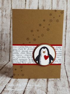 Basteltiger´s Welt, Stampin Up, Occasions Catalogue, Frosty Friends, Christmas card, Penguin