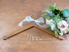 Handmade Wood Mrs Hangers  Mr Mrs  Mr and Mrs  Wooden  $24.99 Mid Summer Sale  20% Enter Code JUL2017  Click on photo to BUY NOW!  Handmade hangers are nice and sturdy. #originalbridalhanger will make are lovely hanger for your dress to be displayed on. The are unique and great keepsakes too!  Click here: originalbridalhanger.etsy.com to see more!