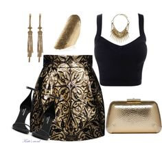 A fashion look from April 2014 featuring brown skirt, ankle strap sandals and evening handbags. Browse and shop related looks. Shoe Bag, Polyvore, Stuff To Buy, Accessories, Shopping, Collection, Shoes, Design, Women