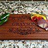 Personalized Beautiful Large Mahogany Cutting  Board - Grayson Style