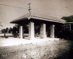 1925 Estación del Tranvía sobre Tlalpan frente al México Country Club | Flickr - Photo Sharing!
