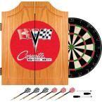 Corvette C2 Red Wood Finish Dart Cabinet Set