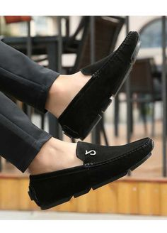 Black music buckle leather slip on shoe loafer Mens Slip On Loafers, Mens Slip On Shoes, Leather Slip On Shoes, Loafers Men, Loafers Online, Shoe Shop, Loafer Shoes, Oxford Shoes, Dress Shoes