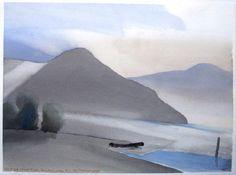 Toni Onley  Black Log, Silver River, Harrison Lake