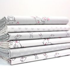FQ Bundle - Hello Little Bunny - Grey x 6